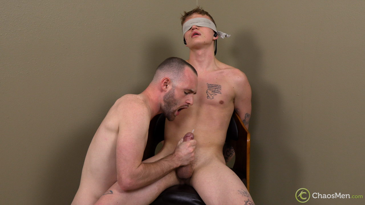 Gay guy eating cum from a straight guys cock