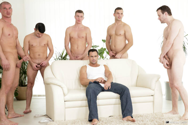 men jerking off together